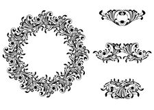 Victorian Decorative Element Set Stock Images