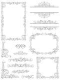 Victorian design elements. Vector  Set of Victorian  Calligraphic  frames, Element and corner details Stock Images