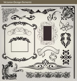 Victorian design elements. Set of vintage page decoration elements Royalty Free Stock Photo