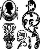 Victorian design elements Royalty Free Stock Images