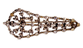 Victorian diamond broach. Stock Images