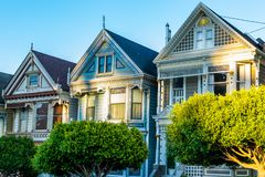 Victorian and Edwardian style houses royalty free stock photos