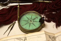 Victorian Era Compass Royalty Free Stock Photos