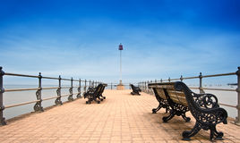 Victorian era pier at English seaside resort Stock Images