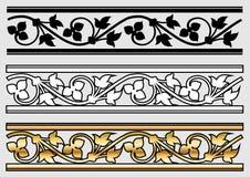 victorian för designscrollstil Arkivbild