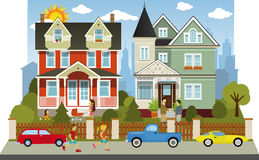 Victorian family houses Royalty Free Stock Images
