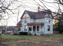 Victorian farm house. On winter day Stock Image