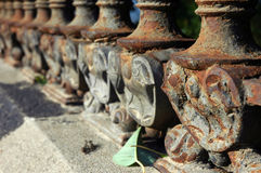 Victorian fence. Iron fence, Barcelona Stock Photo