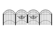 Victorian fence and gate Royalty Free Stock Image