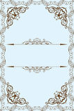Victorian fine frame. Is on blue Royalty Free Stock Image