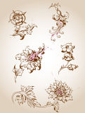 Victorian floral design elements Royalty Free Stock Image