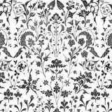 Victorian floral overlay background vector illustration