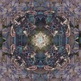 VICTORIAN FLOWER MANDALA , PASTEL COLORS PALLET, ABSTRACT BACKGROUND royalty free illustration