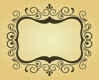 Victorian frame for design Stock Photography
