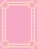 Victorian Frame With Eyelet, Copy Space and Stripe. Victorian frame with rows of eyelet, striped hearts, and plenty of copy space in shades of pink, gold and Stock Photos