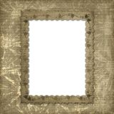 Victorian frame with floral ornament Stock Photography