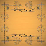 Victorian frame. The Victorian frame on a sand background Royalty Free Stock Image