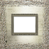 Victorian frames with bunch of willows Royalty Free Stock Images