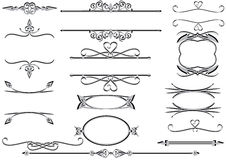 Victorian frames or rulelines vector eps Stock Image