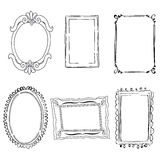 Victorian frames Stock Images