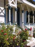 Victorian Front Porch. Front porch of a California Stick Style Victorian lighthouse built in 1874 Royalty Free Stock Photo
