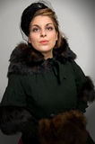 Victorian Fur Coat royalty free stock image