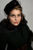 Victorian Fur Coat royalty free stock photos