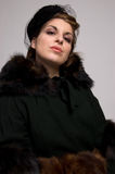 Victorian Fur Coat stock photo