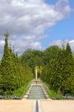 Victorian Garden. A view on a victorian residential garden Stock Images