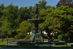 Victorian garden fountain Royalty Free Stock Image