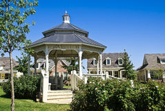 Victorian Gazebo. In Park Neighborhood Royalty Free Stock Photo