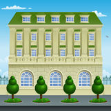 Victorian Georgian House Building. Victorian or Georgian smart expensive town or country house building mansion Royalty Free Stock Images