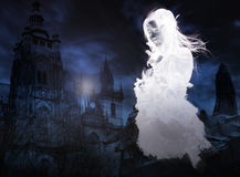 Victorian Ghost. In Prague floating Stock Photo
