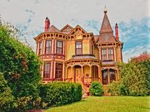 Victorian Ginger Bread House. A ginger bread home restored in Smithfield, Virginia Stock Photography