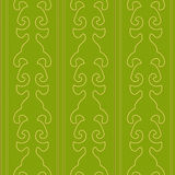 Victorian Green Seamless Pattern. Vector Illustration of Victorian Wallpaper-Style Seamless Pattern Stock Image