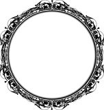 Victorian Grunge Circle Frame. Black and white circle victorian grunge frame for text or photos. All elements are on separate layers for easy editing and color Royalty Free Stock Photos