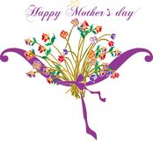 Victorian Happy Mother Day. royalty free illustration
