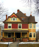 Victorian Home. A Victorian Home in winter Royalty Free Stock Photo
