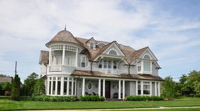 Victorian Home. Row of Victorian homes lining the beach block of the seaside resort community of Cape May, New Jersey Royalty Free Stock Images