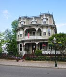 Victorian Home. Lining the beach block of the seaside resort community of Cape May, New Jersey Stock Photos
