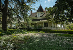 Victorian home. Napa Valley winery estate, Victorian residence Royalty Free Stock Image