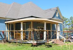 Victorian Home Remodeling Project Royalty Free Stock Photography