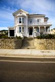 Victorian home in Santa Cruz. CA. Shot of a white Victorian home located in Sant Cruz, CA stock photo