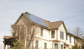 Victorian Home with Solar Panels Stock Photos