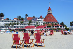 Victorian Hotel del Coronado. SAN DIEGO CA USA APRIL 8 2015: Victorian Hotel del Coronado in San Diego, USA. In the hotel was filmed famous comedy Some like it Stock Photos