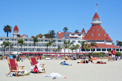Victorian Hotel del Coronado. SAN DIEGO CA USA APRIL 8 2015: Victorian Hotel del Coronado in San Diego, USA. In the hotel was filmed famous comedy Some like it Stock Images