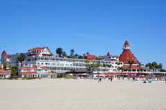 Victorian Hotel del Coronado. SAN DIEGO CA USA APRIL 8 2015: Victorian Hotel del Coronado in San Diego, USA. In the hotel was filmed famous comedy Some like it Royalty Free Stock Photo