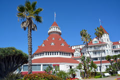 Victorian Hotel del Coronado. SAN DIEGO CA USA APRIL 8 2015: Victorian Hotel del Coronado in San Diego, USA. In the hotel was filmed famous comedy `Some like it Royalty Free Stock Images