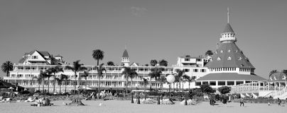 Victorian Hotel del Coronado. SAN DIEGO CA USA APRIL 8 2015: Victorian Hotel del Coronado in San Diego, USA. In the hotel was filmed famous comedy `Some like it Royalty Free Stock Photos