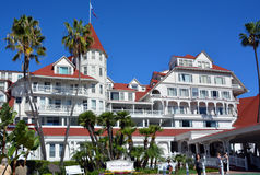 Victorian Hotel del Coronado. SAN DIEGO CA USA APRIL 8 2015: Victorian Hotel del Coronado in San Diego, USA. In the hotel was filmed famous comedy `Some like it Stock Photo
